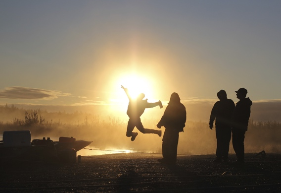 Sunrise silhouette at Alaska West