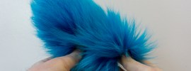 custom dyed arctic fox tails from waters west