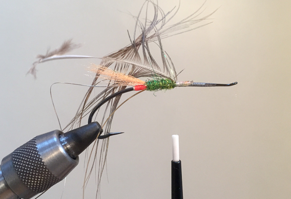 How to tie the lady caroline steelhead fly with modern materials-7