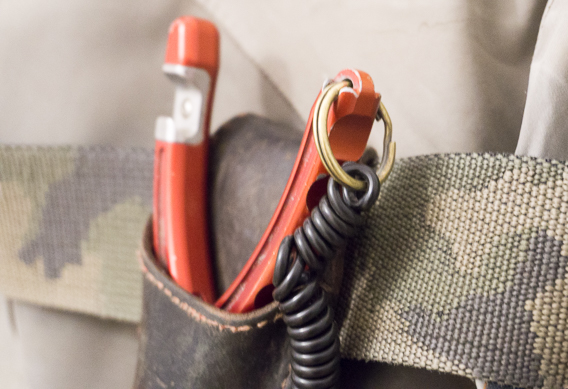 attach a split ring to your fishing pliers