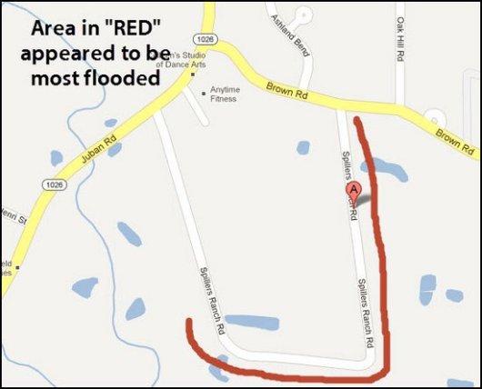 spillers ranch rd flooding map denham springs