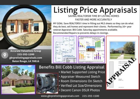 BillCobb Pre-Listing Home Appraisals For Baton Rouge REALTORS