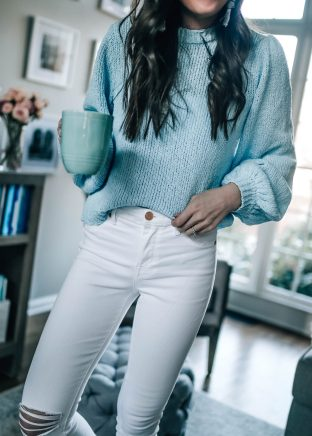 White Denim with Coffee Cup