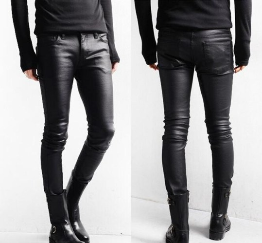korean-style-black-skinny-jeans-men-coated