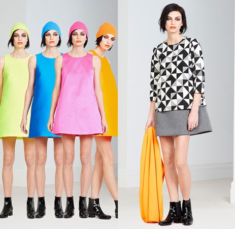 Lisa Perry 2015 Pre Fall Autumn Womens Looks Presentation   Denim     Lisa Perry 2015 Pre Fall Autumn Womens Lookbook Presentation   Colorful  Solids Dress Knit Cap Geometric
