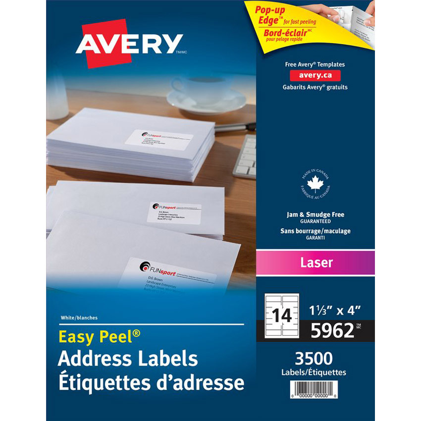 Label 5662 Template Avery