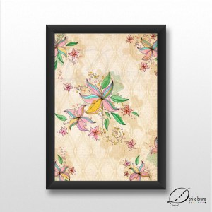 Pensamento floral - poster com moldura
