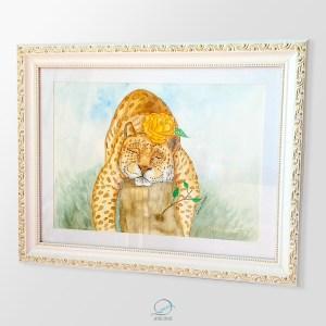 quadro dona maria pintada - oncinha dormindo2