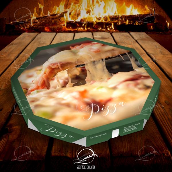 Mockup de caixa de pizza oitavada