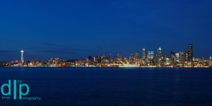 Cityscape and Ferry, Seattle