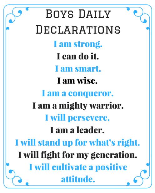 Son's Declarations