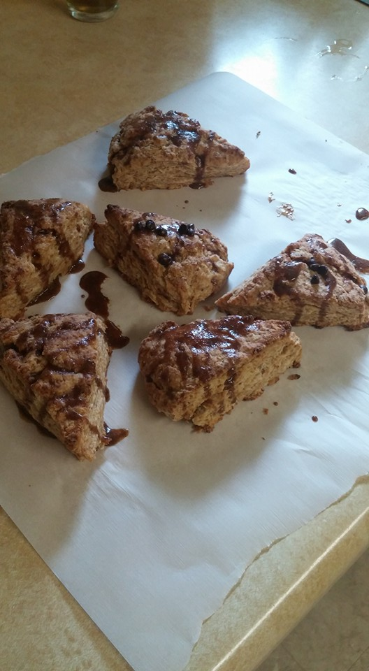 whole wheat scones, real food breakfast
