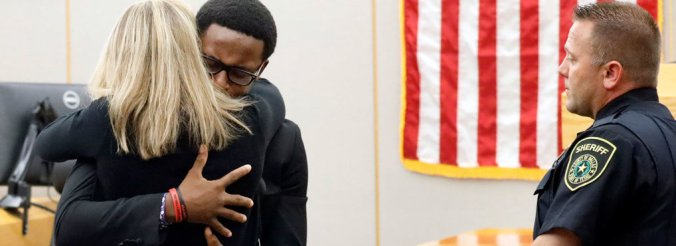 Brother of murder victim forgives woman who shot him