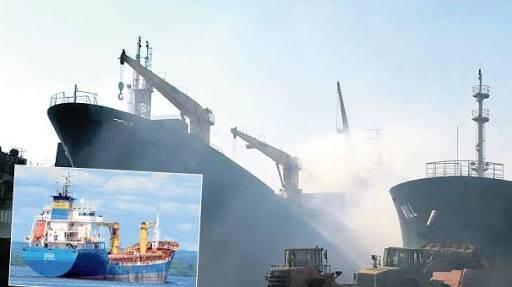 Söküm İçin Getirilen MV KOZA'daki Yangın Devam Ediyor