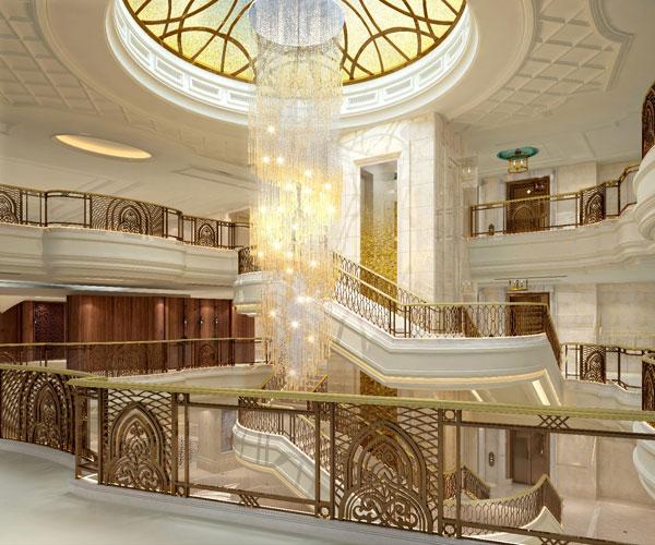 Shangri-La-Bosphorus,-Istanbul-Main-stair