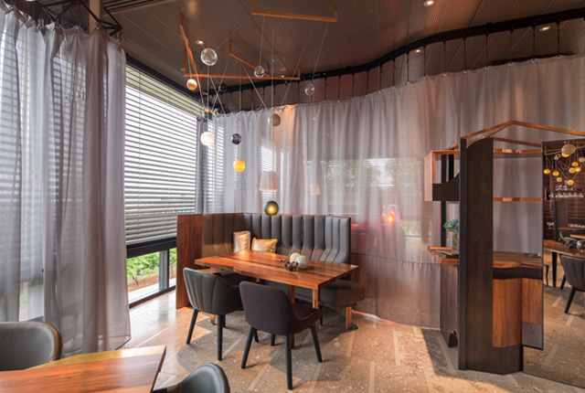 Commercial Restaurant Curtains London