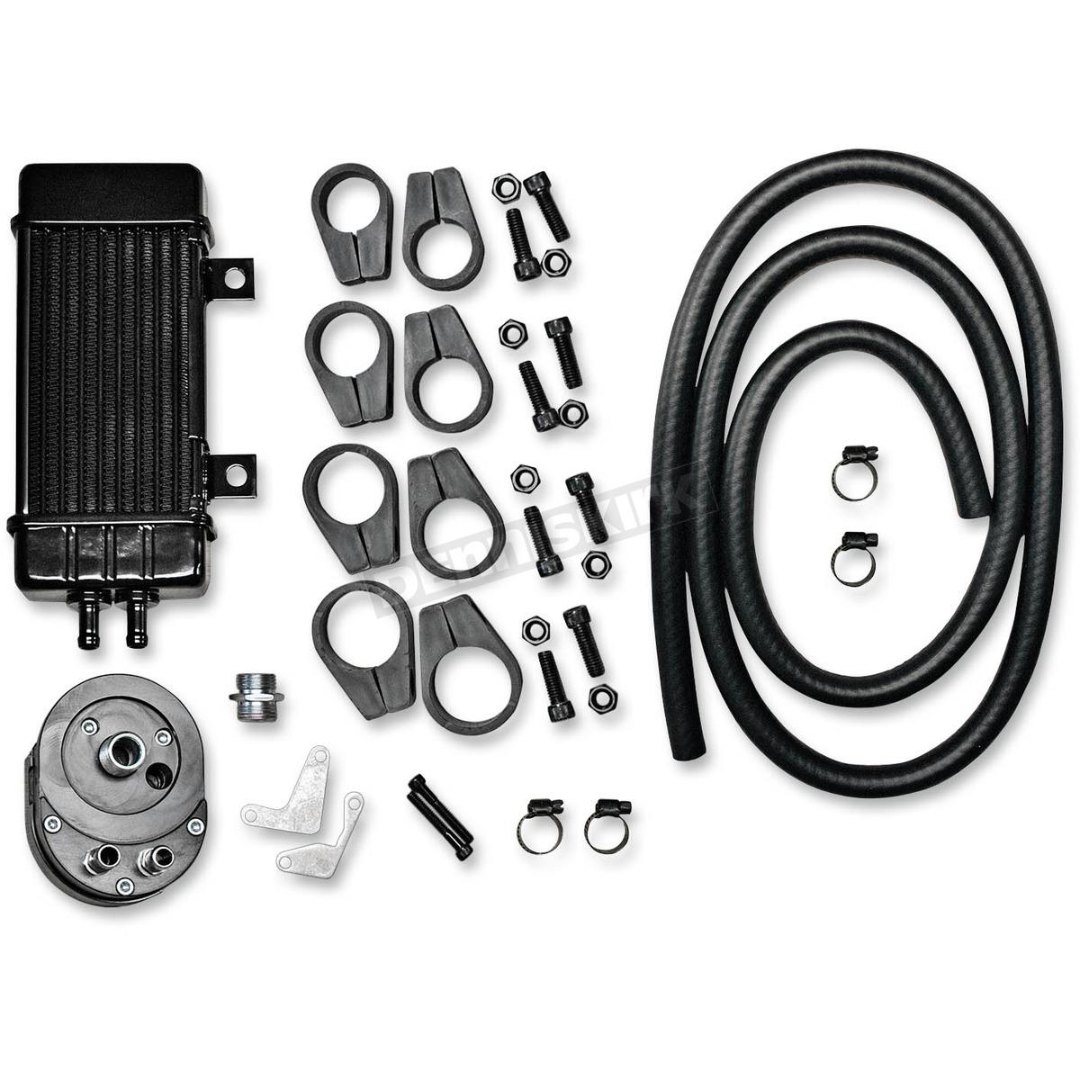 Jagg Wideline Black 10 Row Vertical Frame Mount Oil Cooler Kit