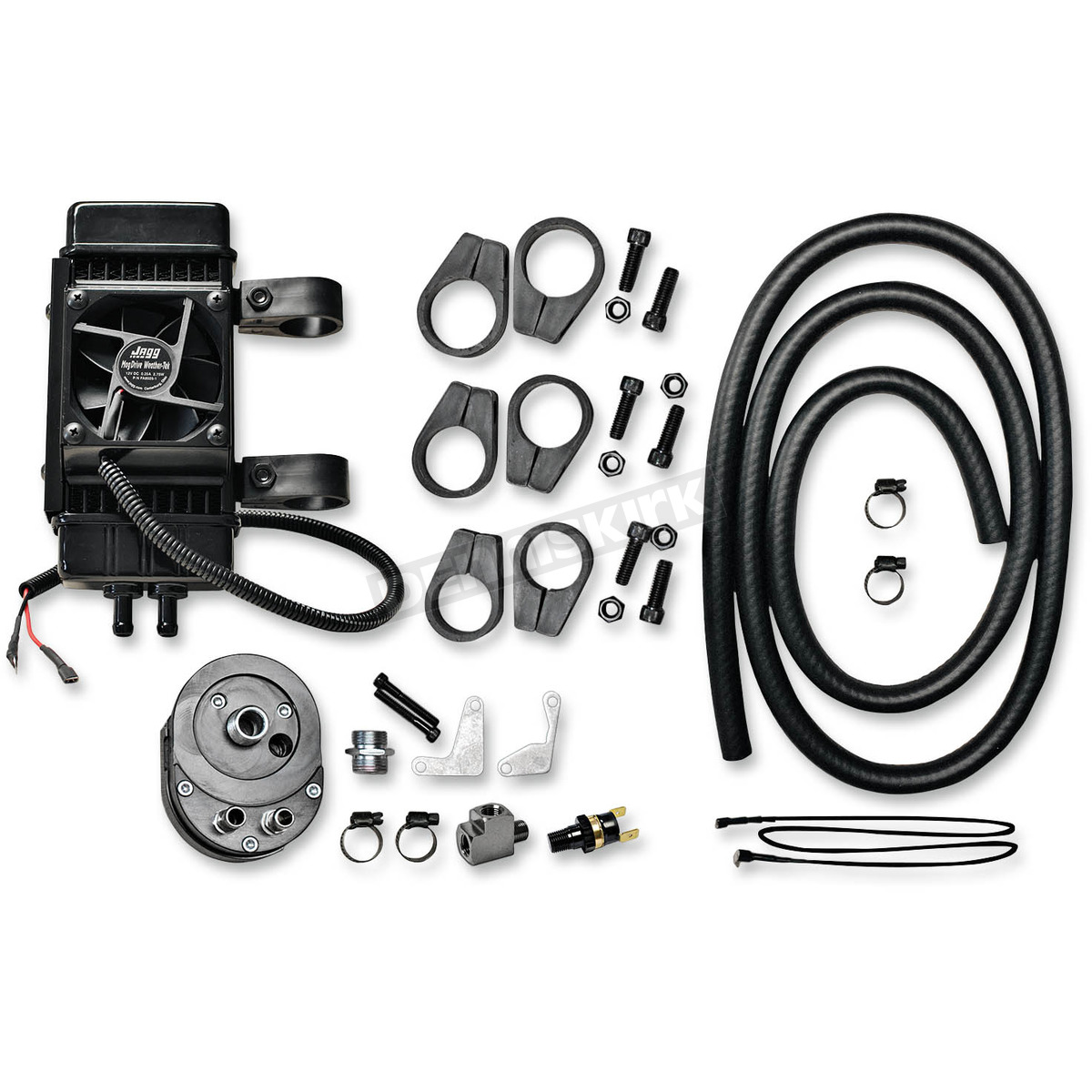 Jagg Vertical Frame Mount Fan Assisted Oil Cooler Kit