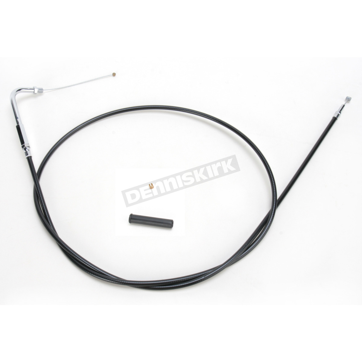 Drag Specialties Black Vinyl Throttle Cable W 90 Degree Elbow