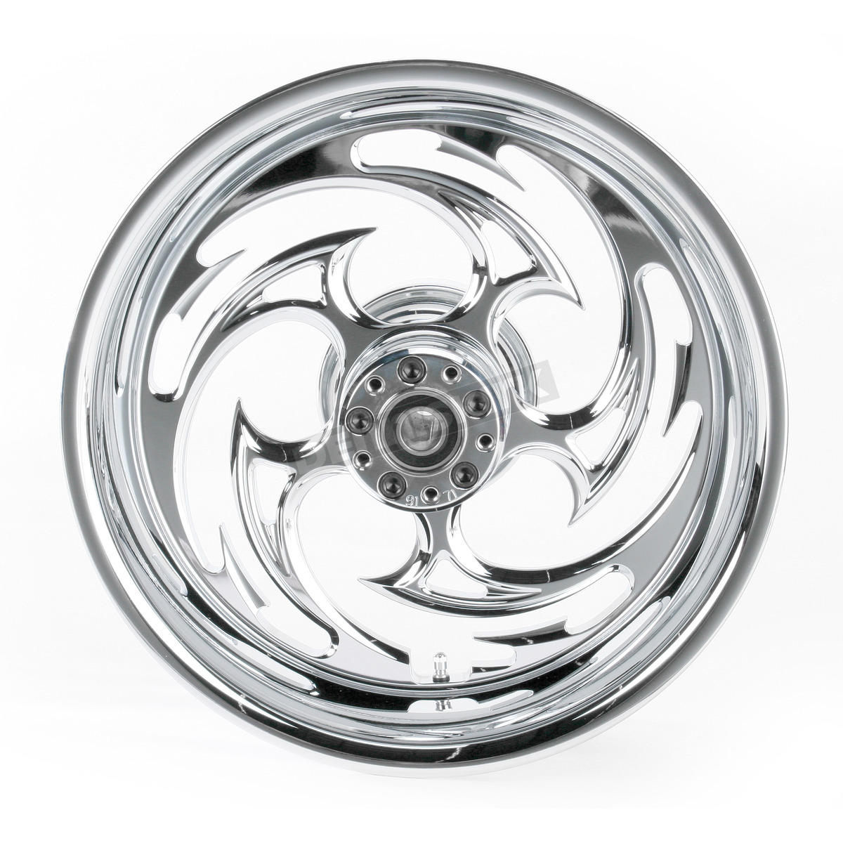 Rc Components Rear Chrome 17 X 6 25 Savage One Piece Wheel For Oem Pulley