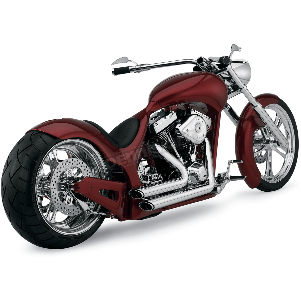 chrome shortshots staggered exhaust system 17221