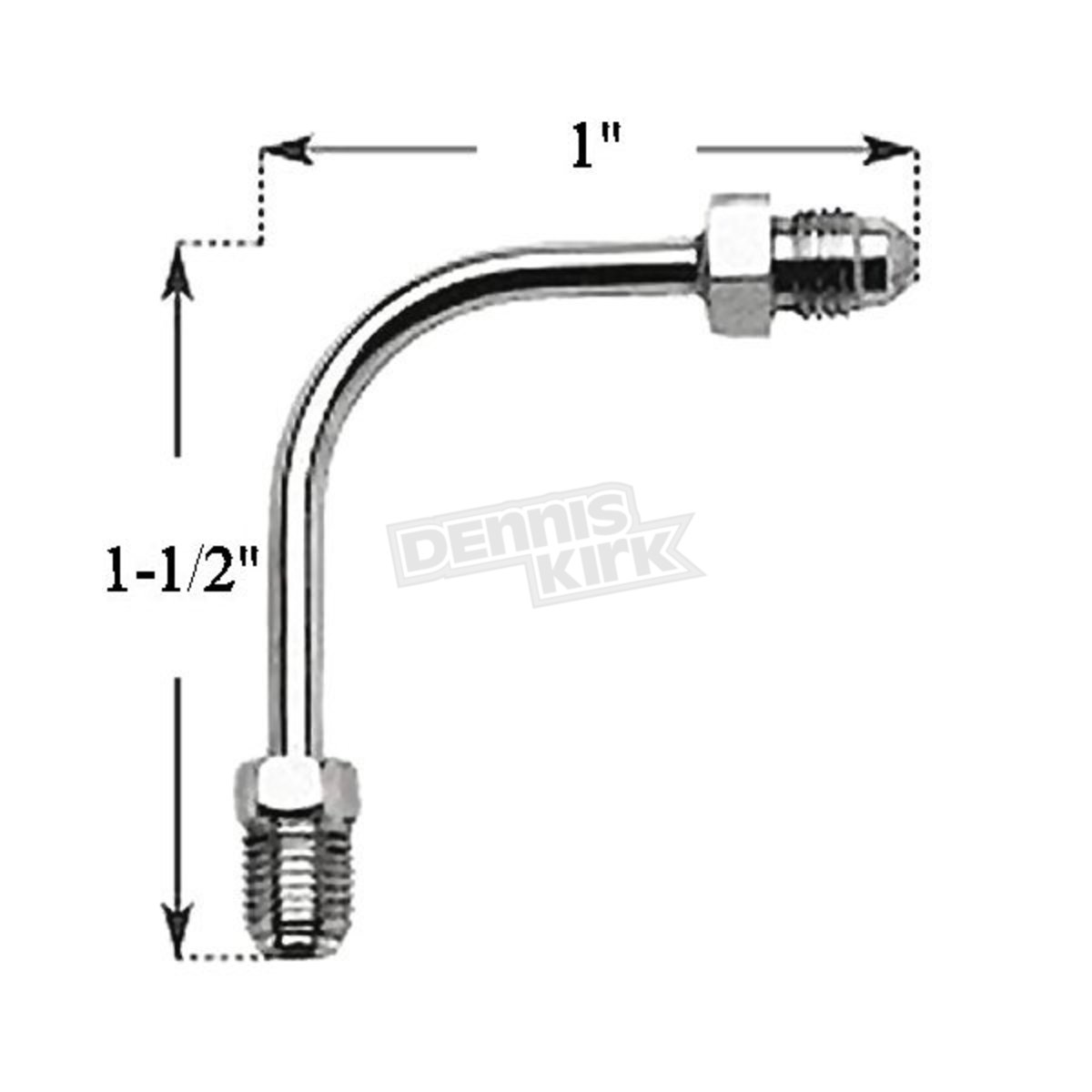 Russell Brake Line Tube 3 8 In 24 Inverted Flare 3 Male 90 Degree Long Bend
