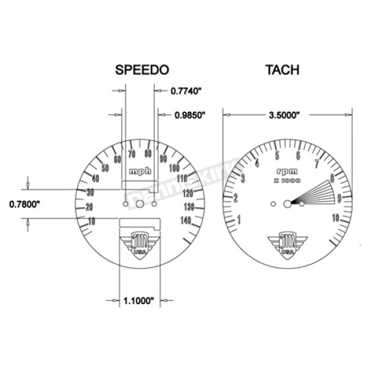 Joker Machine Speedo And Tach Gauge Face Plate Set