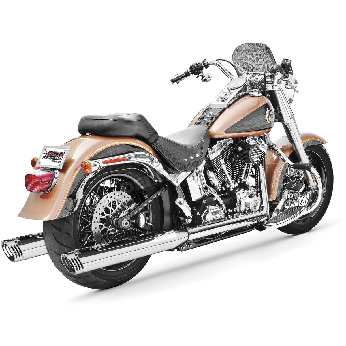chrome racing true duals exhaust system hd00200