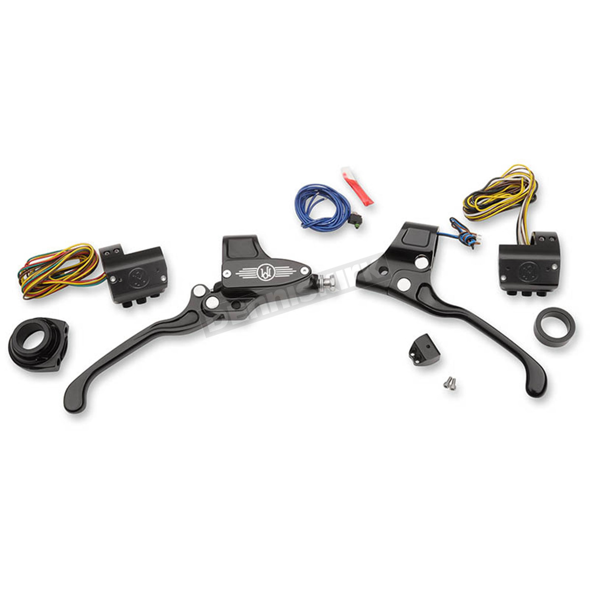Performance Machine Black Complete Handlebar Control Kit W Cable Clutch