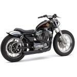 Cobra Black El Diablo 2 Into 1 Exhaust System 6471b Harley Davidson Motorcycle Dennis Kirk