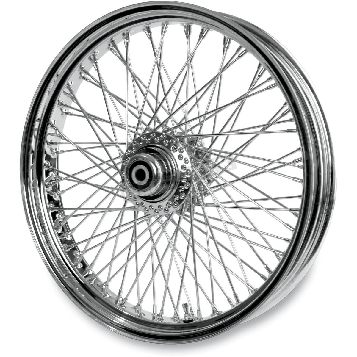 Paughco 21 In X 3 5 In Chrome 80 Spoke Front Wheel Assembly W Round Spokes