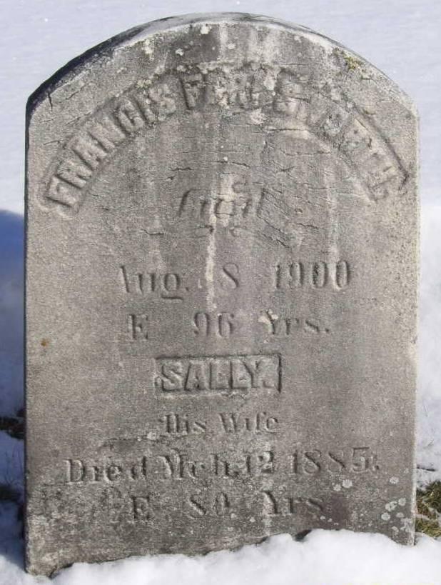 Farnsworth, Francis and Sally, headstone