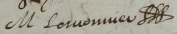 1644 signature Mathurin Lemounier