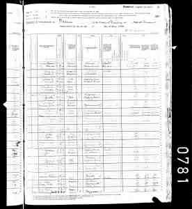 Nora Williams - 1880 Census