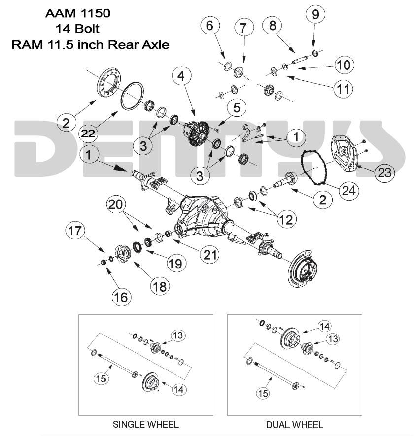 2003 Dodge Dakota Differential Diagram