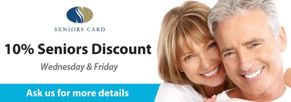 Seniors Discounts Available