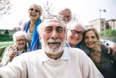 seniors take selfie