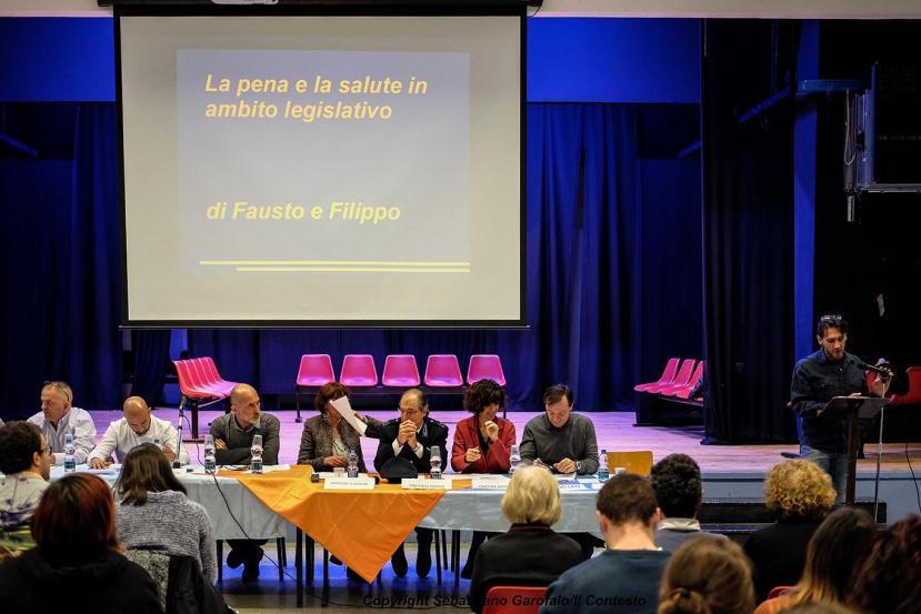 """Fabrizio presenta il suo intervento al convegno """"Il lato positivo"""" del 24 novembre 2016"""