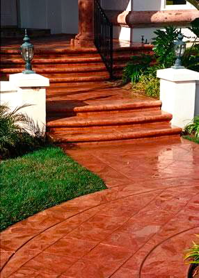 Denver Decorative Concrete Terra Cotta Entryway
