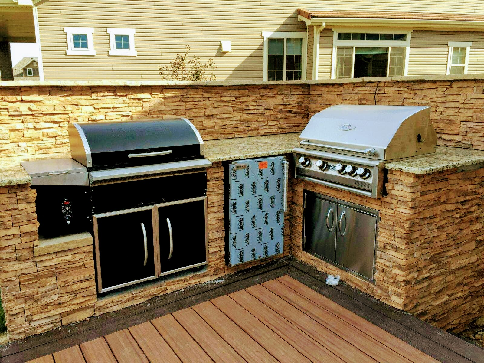 Built In Smoker Outdoor Kitchen Affordable Trendy Home Design .