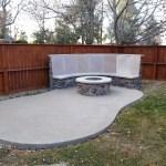 Firepit & Flagstone Bench