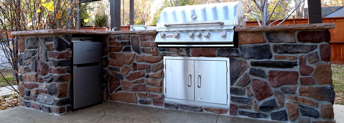 custom bbq island revolution denver decorative concrete custom masonry. Black Bedroom Furniture Sets. Home Design Ideas