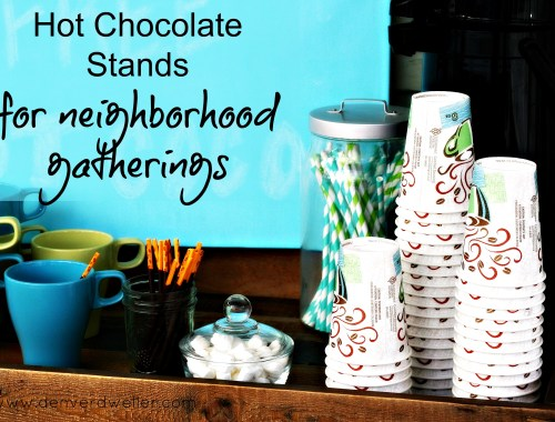 hot chocolate stand for neighborhood gatherings
