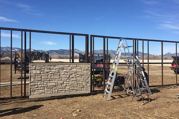 installing fence A Straight Up Fence Company Denver
