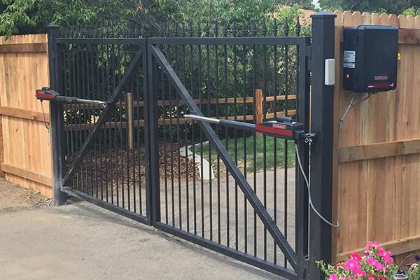 security gate A Straight Up Fence Company Denver