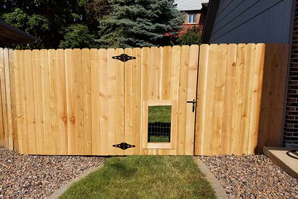 wood fence and gate A Straight Up Fence Company Denver