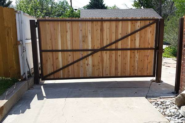 driveway gate A Straight Up Fence Company Denver