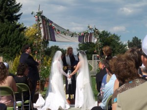 We had a formal, religious wedding with 100 guests that was meaningful to us, but provided no legal recognition.