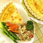 Cook ahead Ham & Cheese Quiche