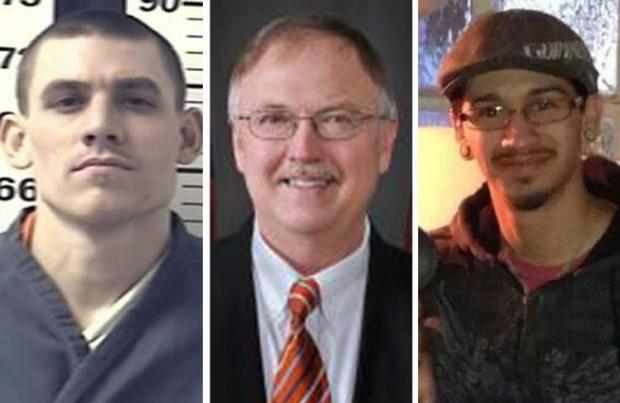 Paroled felon Evan Ebel, left, shot ...